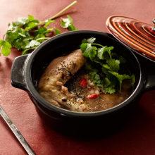 チアシードと十穀米の参鶏湯